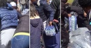 Pubblico ruba acqua minerale durante Maratona Londra4
