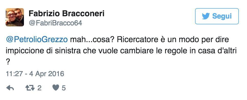 Fabrizio Bracconeri, gaffe su Giulio Regeni su Twitter 7
