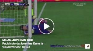Video. Buffon miracolo su Balotelli in Milan-Juventus