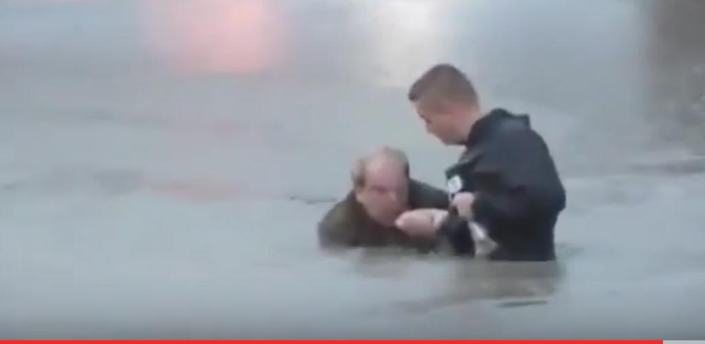 YOUTUBE Giornalista salva uomo in un canale in diretta 8