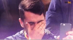 Guarda la versione ingrandita di Roma-Torino, tifoso piange dopo il gol di Francesco Totti