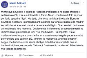 Guarda la versione ingrandita di Mario Adinolfi contro