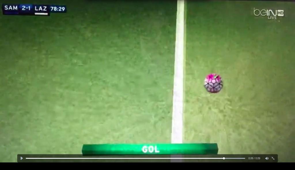 Diakite video gol Sampdoria-Lazio con Goal Line Technology_4