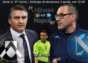 Udinese-Napoli, diretta. Formazioni ufficiali in arrivo