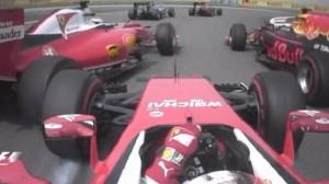 Vettel-Raikkonen, l'incidente al via VIDEO