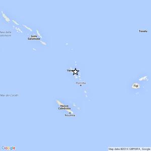 Terremoto Vanuatu, scossa di magnitudo 7 e allarme tsunami