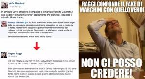 """Guarda la versione ingrandita di Virginia Raggi gaffe: confonde """"Arfio"""" e Alfio Marchini"""