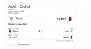 Ascoli-Cagliari, streaming-diretta tv: dove vedere Serie B