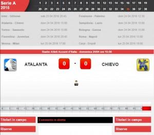 Atalanta-Chievo: diretta live serie A su Blitz