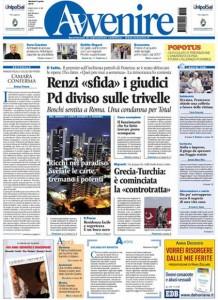 Guarda la versione ingrandita di Matteo Renzi, Panama papers: le prime pagine dei giornali
