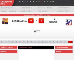 Barcellona-Atletico Madrid: diretta live Champions su Blitz