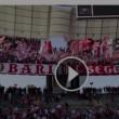 """Bari-Como 3-0, video: calciatori sotto la """"Curva Nord"""""""