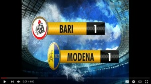 YouTube, Bari-Modena 1-1: highlights Serie B. Rosina che gol