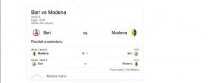Bari-Modena, streaming-diretta tv: dove vedere Serie B