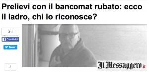 Guarda la versione ingrandita di Padova, preleva col bancomat rubato: riconosci ladro? FOTO