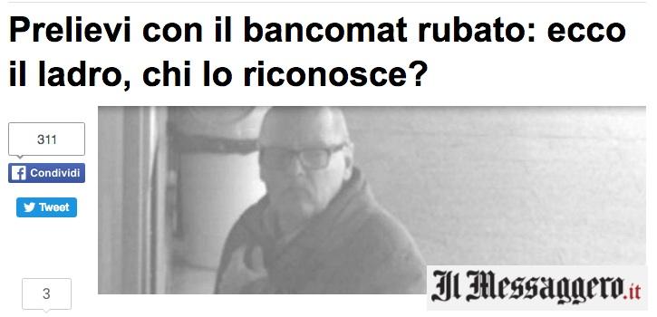 Prelievi col bancomat rubato: riconoscete il ladro? FOTO