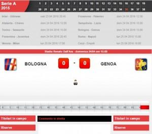 Bologna-Genoa: diretta live serie A su Blitz