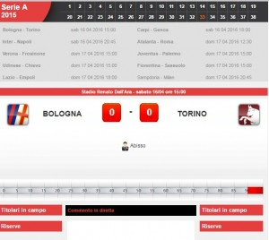 Bologna-Torino: diretta live serie A su Blitz