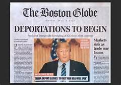 La finta prima pagina del Boston Globe
