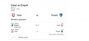 Carpi-Empoli, streaming-diretta tv: dove vedere Serie A