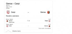 Carpi-Genoa, streaming-diretta tv: dove vedere Serie A_7