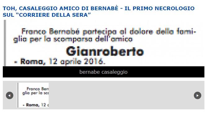 Gianroberto casaleggio primo necrologio di franco bernab for Necrologio corriere della sera
