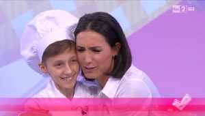 Caterina Balivo e il piccolo Michele