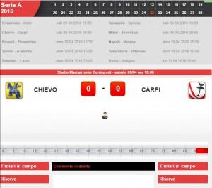 Guarda la versione ingrandita di Chievo-Carpi: diretta live serie A su Blitz. Formazioni