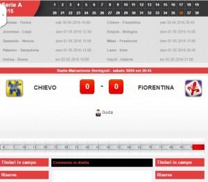 Guarda la versione ingrandita di Chievo-Fiorentina: diretta live serie A su Blitz