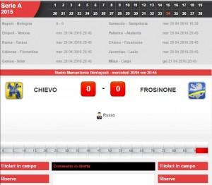Chievo-Frosinone: diretta live serie A su Blitz