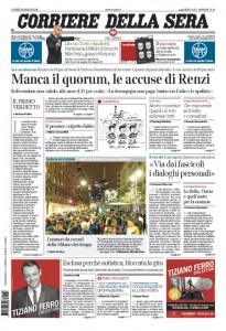 Guarda la versione ingrandita di Trivelle, Marchisio, Totti-Spalletti: prime pagine 18 aprile