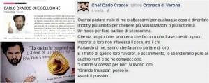 Guarda la versione ingrandita di Carlo Cracco, sfogo su Facebook contro le critiche per la cena al Vinitaly