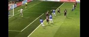Guarda la versione ingrandita di Dodo video gol Sampdoria-Milan: non era fuorigioco