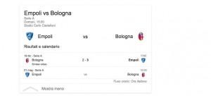 Empoli-Bologna, streaming-diretta tv: dove vedere Serie A