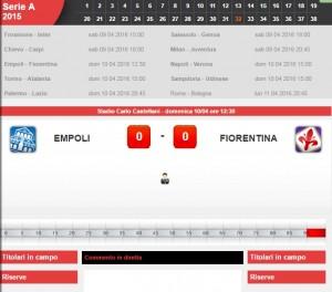 Empoli-Fiorentina: diretta live derby su Blitz. Formazioni