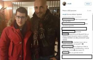 Enrico Lotito selfie con Luciano Spalletti FOTO