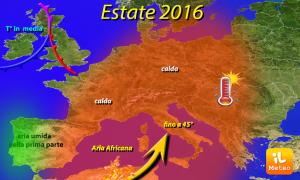 Meteo estate 2016, sarà la più calda degli ultimi 20 anni