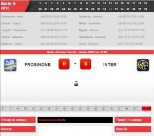 Frosinone-Inter: diretta live serie A su Blitz. Formazioni