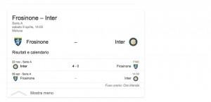 Frosinone-Inter streaming-diretta tv, dove vedere Serie A