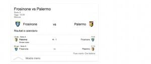 Frosinone-Palermo, diretta. Formazioni ufficiali e video gol