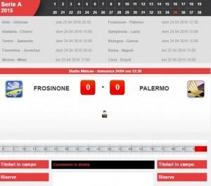 Frosinone-Palermo: diretta live serie A su Blitz
