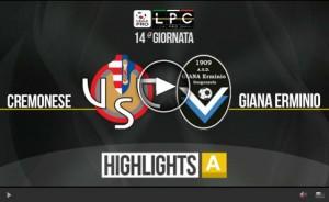 Giana Erminio-Cremonese Sportube: streaming diretta live
