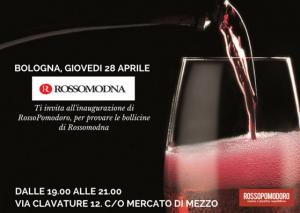 Il 28 aprile dalle 19 alle 21 allo storico mercato di Mezzo di Bologna, RossoPomodoro e RossoModena insieme per dare vita al miglior gusto italiano.