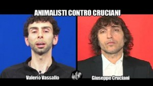 Guarda la versione ingrandita di L'intervista doppia a  Cruciani e all'animalista Valerio Vassallo