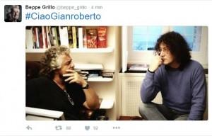 Guarda la versione ingrandita di Gianroberto Casaleggio, Beppe Grillo twitta FOTO insieme