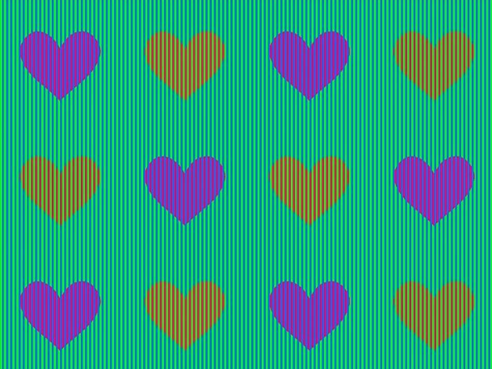 Illusione ottica: di che colore sono i cuori3
