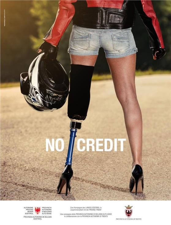 Campagna choc incidenti moto: senza gamba