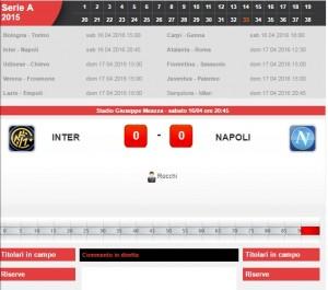 Inter-Napoli: diretta live serie A su Blitz. Formazioni