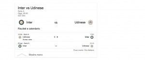 Inter-Udinese, streaming-diretta tv: dove vedere Serie A
