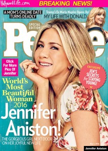 Jennifer Aniston più bella del mondo 2016 per People